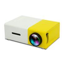 dlp construída projector wi-fi 3d venda por atacado-Venda quente YG300 LED Projetor Portátil 400-600LM 3.5mm de Áudio 320x240 Pixels YG-300 HDMI USB Mini Projetor Home Media Player