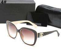 erwachsenes metall großhandel-SOMMER Frauen Metall Brillen Luxus Erwachsene Sonnenbrillen Damen Marke Designer Mode Black Eyewear Mädchen fahren Sonnenbrille Mit der Box