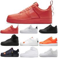 sapatos de trigo venda por atacado-Nike Air Force 1 Forces Shoes Novo One 1 tênis para mulheres dos homens branco preto Laranja vermelho Mens trainer trigo rosa Mulheres dunk 1 tênis esportivos sapatos Ao Ar Livre