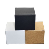 Wholesale face pack paper resale online - 50pcs Colored x4x3cm Kraft Paper Box Foldable Face Cream Packing Paperboard Boxes Jewelry Package Ointment Bottle Boxes