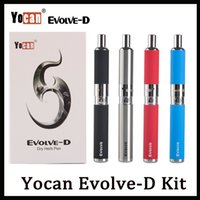 Wholesale dry herb vaporizer free shipping for sale - Group buy Yocan Evolve D Starter Kit Dry Herb USB line Vape Pen Vaporizer With Pancake Dual Coils mAh Battery Ego Thread Atomizer DHL Shipping Free