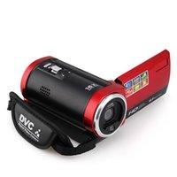 tft camcorder großhandel-Freies Verschiffen C6 Kamera 720P HD 16MP 16x lautes Summen 2.7 '' TFT LCD Digital Videokamerarecorder Kamera DV DVR Schwarzes rotes heißes weltweit