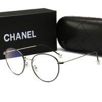 blaue männer sonnenbrillen rahmen großhandel-Neue sommer frauen designer sonnenbrillen heiße marke anti-blue light frauen runde brille mit luxus vollformat für männer frauen mit box