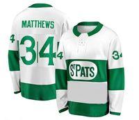 topo da folha de bordo venda por atacado-Top bom preço Formadores Matthews Toronto St. Pats White Premier Jersey, Toronto Maple Leafs 34 MATTHEWS 91 TAVARES 16 MARNER Camisola de Hóquei