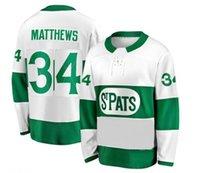 ingrosso foglia di acero-Top prezzo buono Allenatori Matthews Toronto St. Pats White Premier Jersey, Toronto Maple Leafs 34 MATTHEWS 91 TAVARES 16 MARNER Jersey Hockey