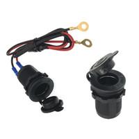 Wholesale motorcycle plugs 12v resale online - Charger Adapter V To V Car Motorcycle Electric Modification Car Cigarette Lighter Socket Plug Connector Ignition Device