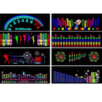 Wholesale equalizer rhythm resale online - 90X25CM Car Sticker Music Sound Rhythm LED Flash Light Lamp Sound Activated Equalizer Rear Window Styling Cool Sticker