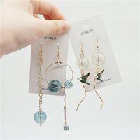 ingrosso disegni coreani di top di moda-Original Design Bubble Long Dangle Earrings For Women Dreamlike Glass Ball Orecchini a goccia coreani Fashion Jewelry 2018 Top Quality