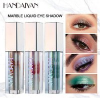 Wholesale liquid shimmer eyeshadow resale online - DHL free HANDAIYAN Marble Liquid Glitter Eye Shadow Diamond Shimmer Eyeshadow Waterproof Long Lasting Chameleon Pearlescent Eyeshadow