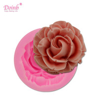 Wholesale 3d fondant rose mold resale online - Bloom Rose Silicone Cake Mold D Flower Fondant Mold Cupcake Jelly Candy Chocolate Decoration Baking Tool Moulds