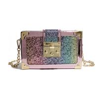 handtaschen frauen taschen dhl großhandel-Hochwertiges freies Verschiffen DHL oder EMS-Mehrfarbenkasten-echtes Leder-Kurierhandtaschen-Frauen-klassische Schulter-Beutel