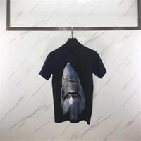 футболка 3d животных оптовых-Роскошные Мужские Дизайнерские Футболки Мужчины С Коротким Рукавом 3D Animal Shark Print Футболка Женщины Camisa Masculina Дизайнерские Футболки