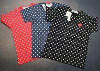 camisa roja pareja al por mayor-2019ss COM Wave point love heart Camisetas y7 CDG VACACIONES Corazón Emoji PLAY camiseta nuevos corazones rojos limitan la expresión amor parejas camiseta