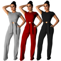 orange strumpfhosen frauen großhandel-frauen designer trainingsanzug kurzarm outfits sweatsuits legging 2-teiliges set dünne sweat suits strumpfhosen sportanzug pullover hosen plus größe