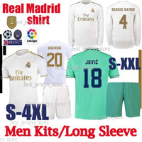 uzun camis toptan satış-Tay 2019 gerçek Madrid futbol formaları 2020 TEHLİKE camiseta de fútbol Uzun kollu VINICIUS ASENSIO futbol gömlek Erkekler Kitleri camisa de futebol