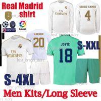 Wholesale thai kits resale online - Thai real Madrid soccer jerseys HAZARD camiseta de fútbol Long sleeve VINICIUS ASENSIO football shirt Men Kits camisa de futebol