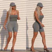 calções de calças quentes para mulheres venda por atacado-High Street Womens leggings Skin Apertado Calças Esporte Curto Moda Sólida Calções de Bicicleta para o Sexo Feminino INS Venda Quente Esportes Leggings
