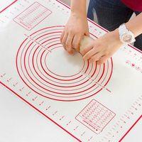 silikon-makkaronat großhandel-Silikon-Knetmatte Backmatte Antihaft-Dickeres Backen Kneten Pad Blatt Glasfaser Rollen für Kuchen Macaron Backen Küche Zubehör