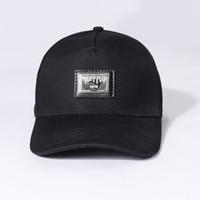 tela para sombrero al por mayor-Qp 2019 nuevo verano nuevos sombreros de mujer con telas importadas, cómodo y elegante, con letras de hierro, estampado de placa, hombres odiando
