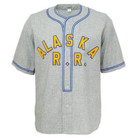 Wholesale ship authentic baseball jerseys resale online - Custom Men s Alaska Railroad Authentic jersey ANY NAME OR Any NUMBER GREY XS XL
