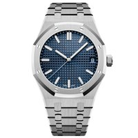 Wholesale mechanical watches resale online - luxury designer waterproof date watch men automatic watches silver strap blue stainless mens mechanical orologio di Lusso wristwatch