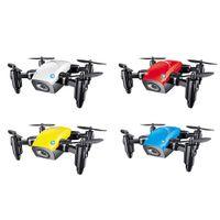 helicópteros remotos al por mayor-Mini Drone con cámara WiFi FPV Flying Remote Control Quadcopter Micro Pocket Toys Dron Altitude Hold RC Helicopters Regalos