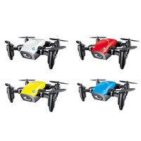 Wholesale mini electric helicopters for sale - Group buy Mini Drone With Camera WiFi FPV Flying Remote Control Quadcopter Micro Pocket Toys Dron Altitude Hold RC Helicopters Gifts