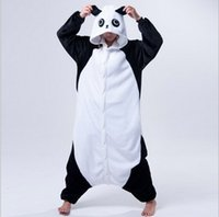 fatos cosplay panda venda por atacado-Costumes New Adulto animal Pijama Rilakkuma Panda Pijama Sleepsuit Onesie Pijamas Unisex Cosplay Halloween para homens