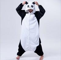 erwachsene tier onesie pyjamas groihandel-Neues erwachsenes Tier Pyjamas Rilakkuma Panda Pyjamas Sleepsuit Baby Body Nachtwäsche Unisex Cosplay Halloween-Kostüme für Männer