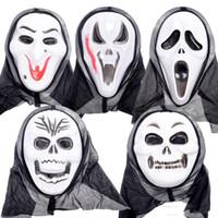 máscaras de grito venda por atacado-2018 venda quente máscaras de Halloween Screaming Fantasma Festival Ghost Face Fantasmas Do Partido Ceifador Ceifador Máscara de Halloween Trajes atacado