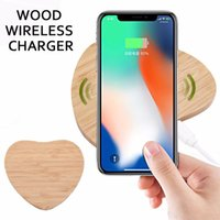 Wholesale qi charger wood online – Bamboo wood Wireless charger Qi wireless charger For Iphone X XS max XR S9 plus wireless Charging seat
