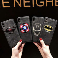 Wholesale iphone xr marvel case for sale – best Original Phone case For iphone XR Captain America Marvel Thor High Quality Fabric Cloth Shockproof Back Cover Coque