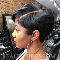 Wholesale best hair cuts for women for sale - Group buy Brazilian virgin real short cut hair wigs for women best human hair none lace wigs cheap hair with bang wig
