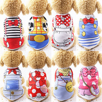 Wholesale summer costumes for dogs for sale - Cartoon Pet Dog Clothes Summer Cotton Puppy T Shirt Clothing For Small Dogs Chihuahua French Bulldog Shirt Vest Coat Color WX9