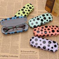 gedruckte brillen großhandel-Druckpunkt-Sonnenbrille-Kasten-Druckglas Eyewear-Kasten-Art- und Weisebrillen-Paket-Sonnenbrille-Kasten 4styles RRA1906