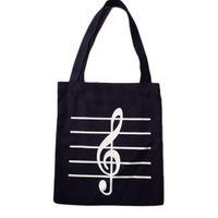 примечание женская сумочка оптовых-Musical note Printed Women's Casual Tote Female Daily Use Female Shopping Bag Ladies Single Shoulder Handbag Beach Bag