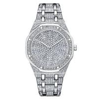 серебряные часы оптовых-Top  Men Watch Men Women Dress Watches Fashion Silver Quartz Watches Male Big Dial Rhinestone Wristwatches New reloj mujer
