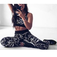 Wholesale shipping printed yoga pants for sale - Group buy Spot Europe and America Women s Print Sports Yoga Wear Vest Pants Two piece Sportswear Quick drying Yoga Wear