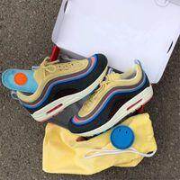 ingrosso scarpe di marca per le donne-Brand New Sean Wotherspoon Uomini scarpe da corsa Top Donne Vivid Sulphur Multi giallo blu Hybrid Sports Sneakers 36-45