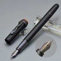 tinta exclusiva venda por atacado-Luxo exclusivo cobra clipe matte canetas tinteiro preto com olho de cristal edição especial mb marca metal escrever canetas de tinta para o melhor presente conjunto