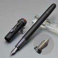 ingrosso inchiostro unico-Penne stilografiche nere opache di lusso con clip di cristallo nero opaco speciale edizione mb marca metallo scrivere penne inchiostro per il miglior regalo set