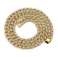 neue mode-accessoires china großhandel-New Fashion Men HIPHOP Rap Zubehör voller Diamanten Cuban Gold Silber Strass Halskette Umweltfreundliche Schmuck für hübsche junge
