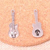 Wholesale tibetan guitar for sale - Group buy 75pcs Charms guitar skull mm Antique Making pendant fit Vintage Tibetan Silver DIY Handmade Jewelry