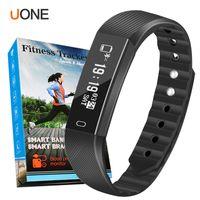 control de contador al por mayor-ID115 F0 Pulseras Inteligentes Rastreador de ejercicios Contador de Pasos Monitor de Actividad Banda Reloj Alarma Vibración Pulsera para iphone teléfono Android