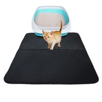 Wholesale cat mats resale online - Urijk Double Waterproof Cat Mat For Pet EVA Double Layer Cat Litter Mat L M S HOT Sell Pet Puppy Mat Bed Pads