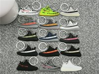 Wholesale ring holders shoes resale online - New Fashion Mini Silicone Cute Air Shoes Keychain Charm Women Key Ring Gifts Sneaker Key Holder Pendant Accessories Key Chain