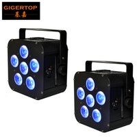 Wholesale par lights online - Freeshipping x UPLIGHT W in1 RGBAW UV Battery Operated LED Par Light LED Display Smooth Wash Low Noise