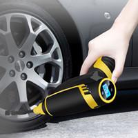 taşınabilir elektrikli kompresör toptan satış-Dijital LED Akıllı Araba Hava Kompresörü Pompası Taşınabilir El Araba Lastik Şişirme Elektrikli Hava Pompası 150 PSI Onarım Aracı Akse ...