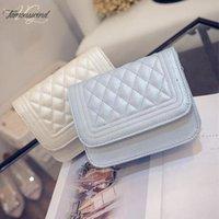 Wholesale free shipping korea bag resale online - Cover Fashion New Handbags High Quality Pu Leather Women Bag Korea Simple Lozenge Sweet Girl Shoulder Female Bag