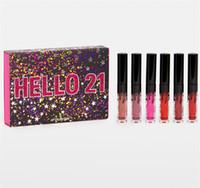 buenos lápices labiales líquidos al por mayor-2019 nuevos productos de la colección de cumpleaños Jenner 21st CUMPLEAÑOS MINI LIP SET 4 lápices labiales líquidos de terciopelo buen artículo